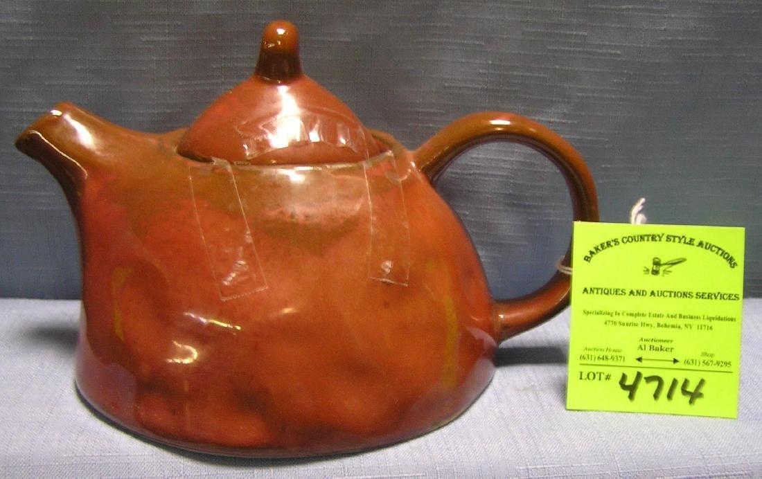 Vintage art pottery tea pot