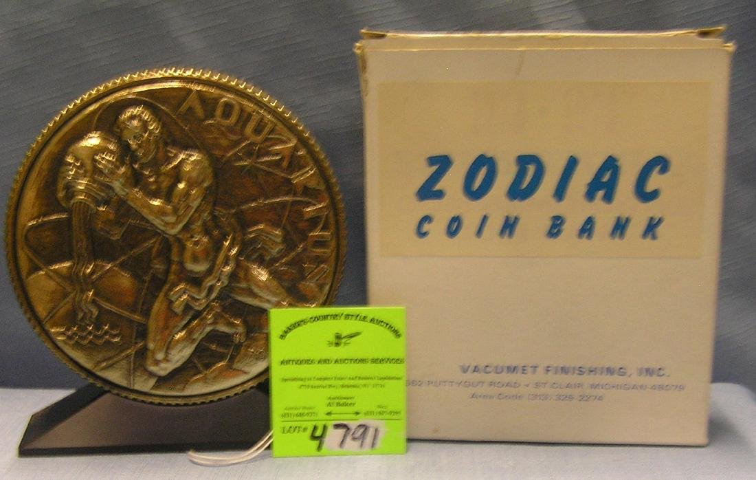 Zodiac Aquarius coin bank