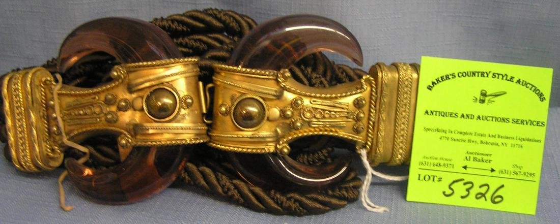 Artist signed Sonya of Italy belt and buckle set
