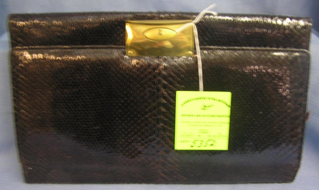 High quality snakeskin purse