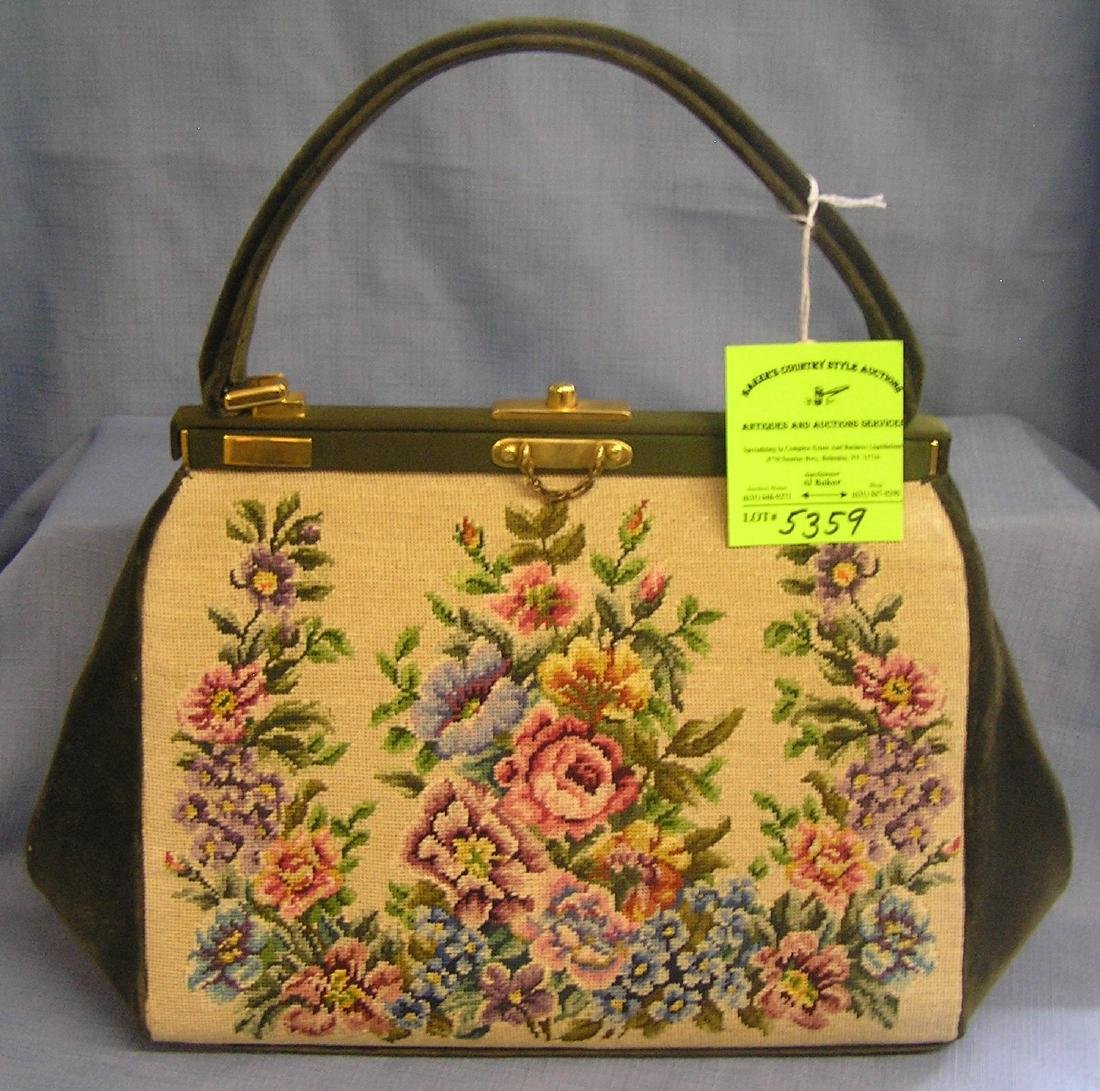 High quality vintage embroidered hand bag