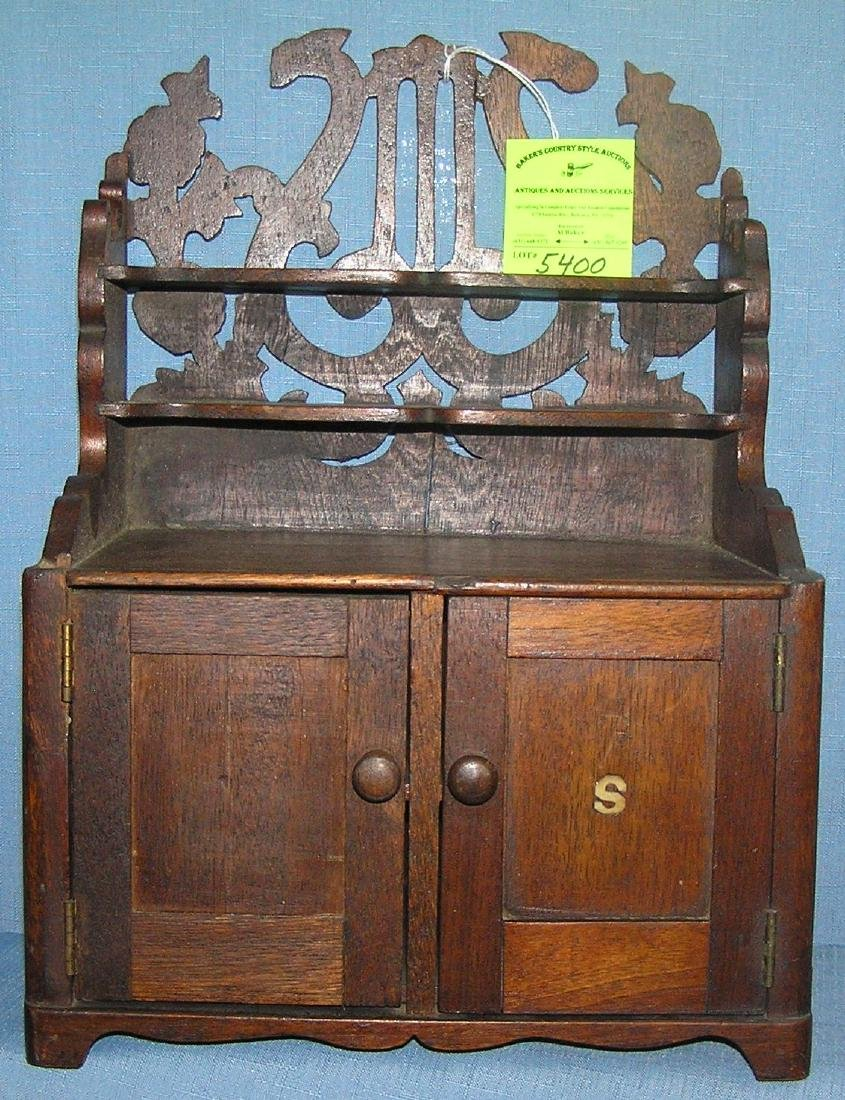 Antique oak kitchen hutch salesman sample