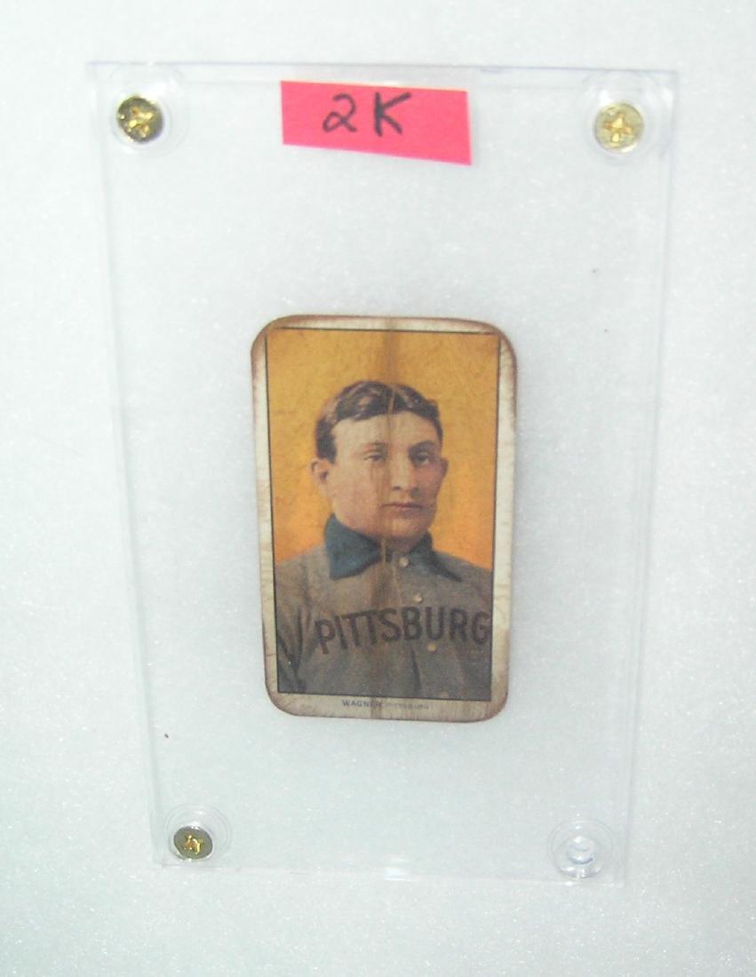 Honus Wagner baseball reprint card