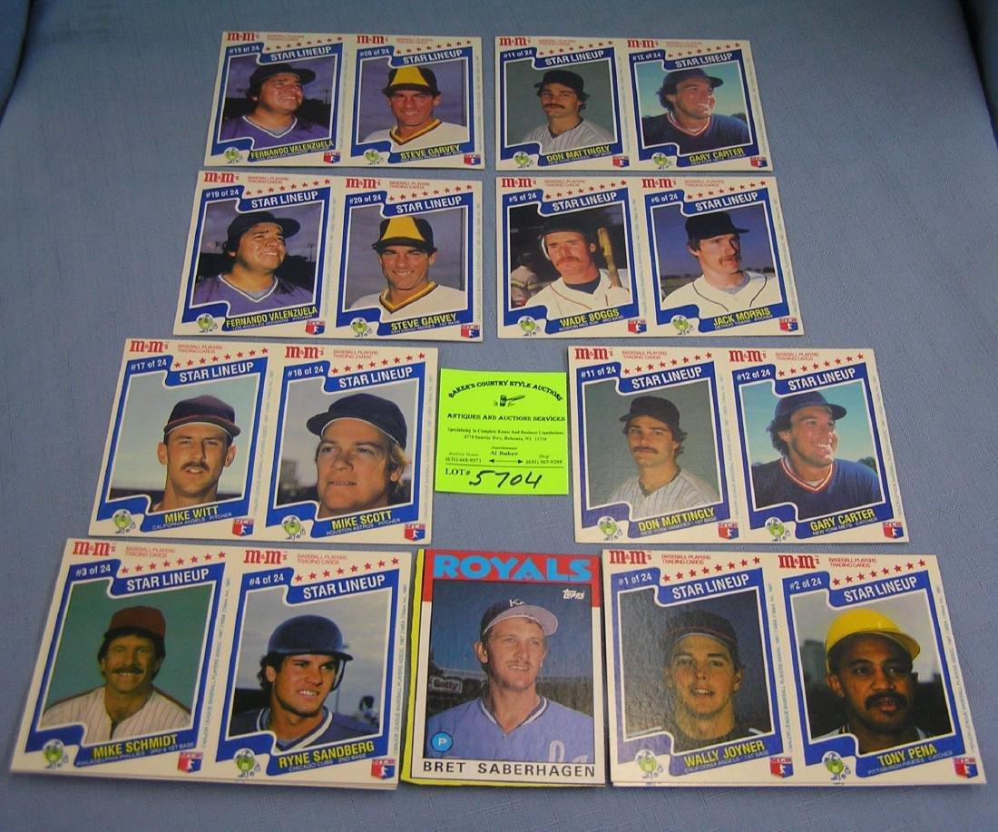 Collection of vintage M&M's all star baseball cards