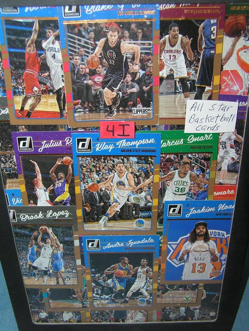 Group of all star basketball cards