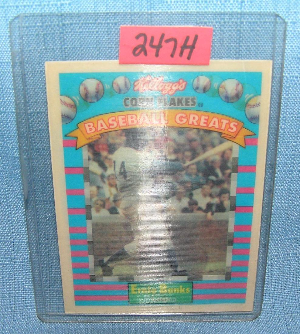 Earnie Banks 3D Baseball card