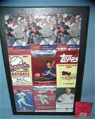 Collection of all star baseball cards wrappers and