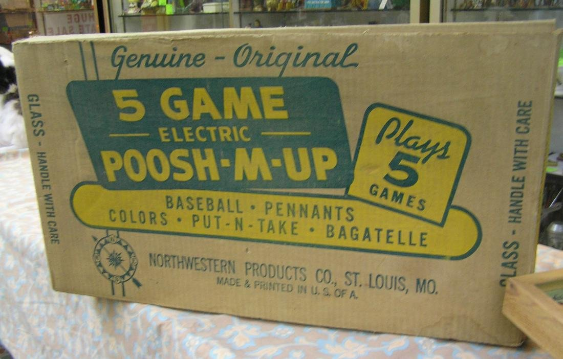 Five game electric Poosh-M-Up Bagatelle game - 2