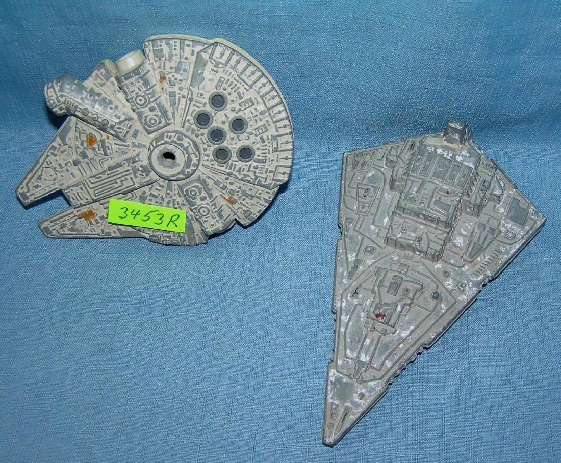 Pair of vintage Star Wars space ships