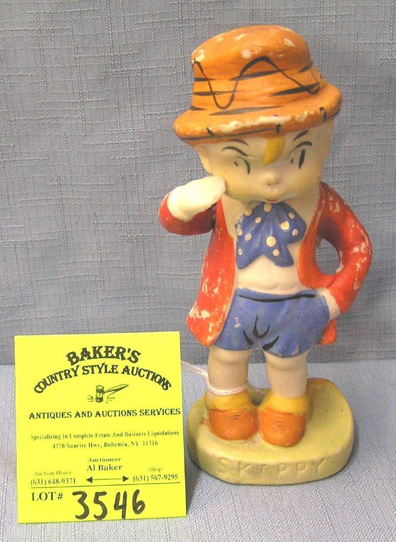 Antique bisque Skippy cartoon character figure