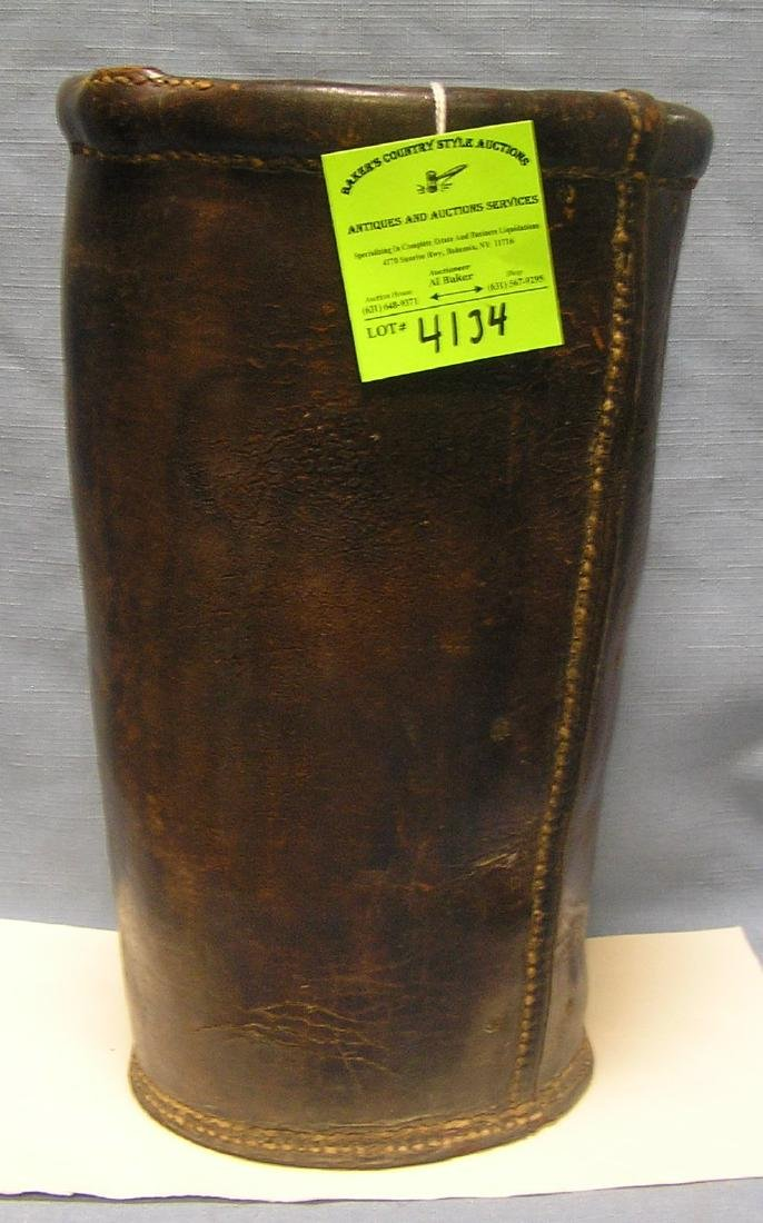 Antique leather fire bucket