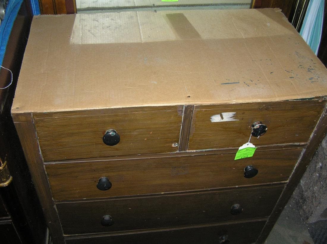Antique five drawer chest - 3