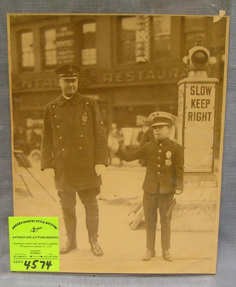 Great early policeman photo with junior officer
