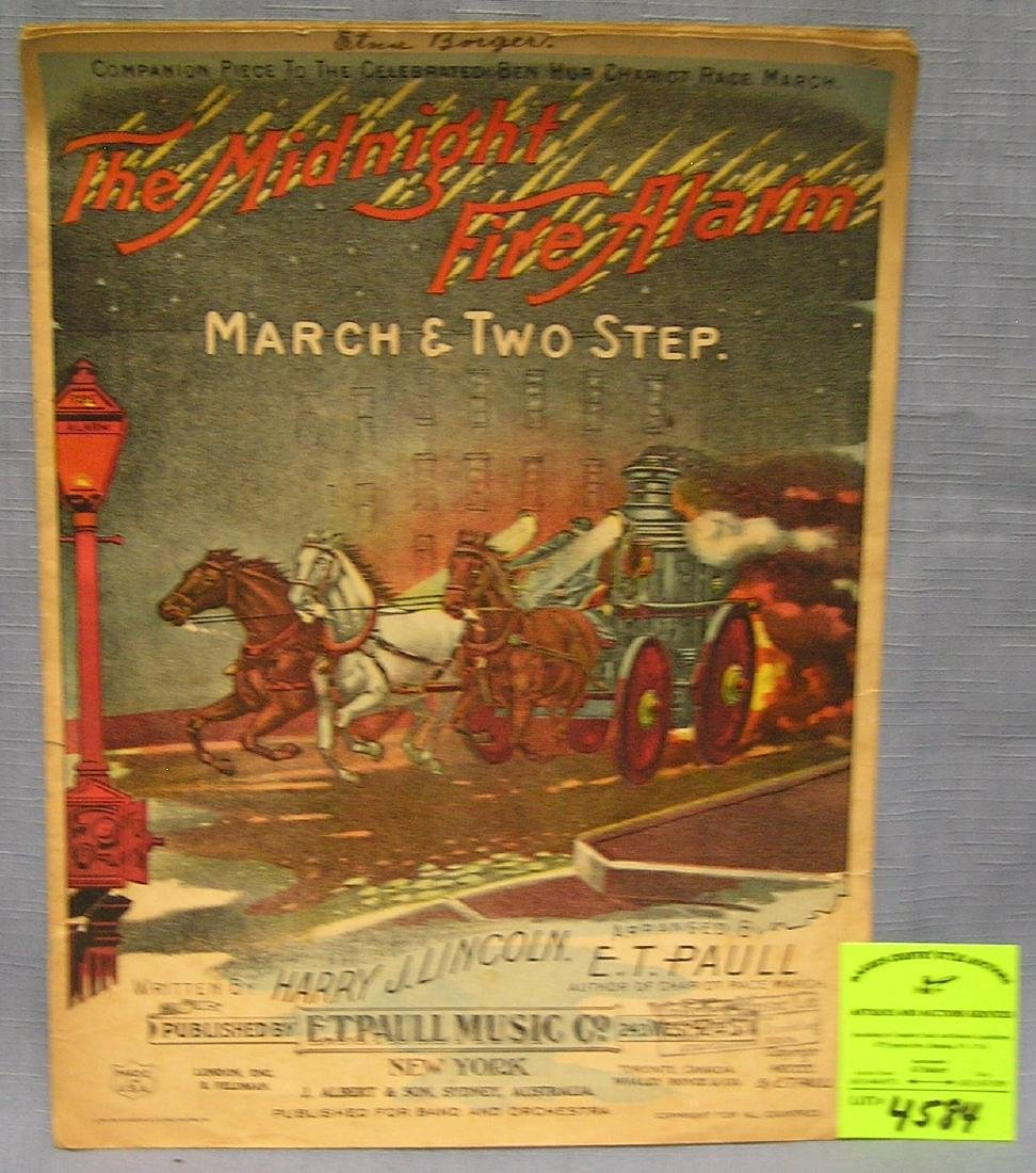Early fireman's sheet music booklet