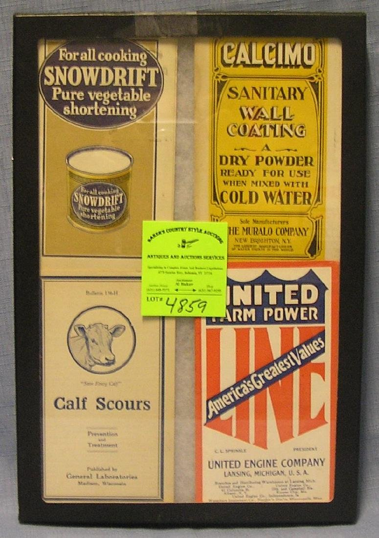 Group of antique advertising brochures