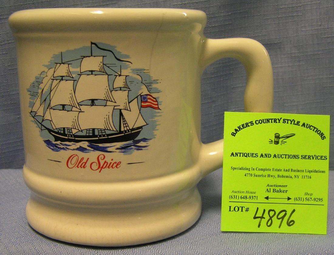 Early Old Spice advertising shaving mug