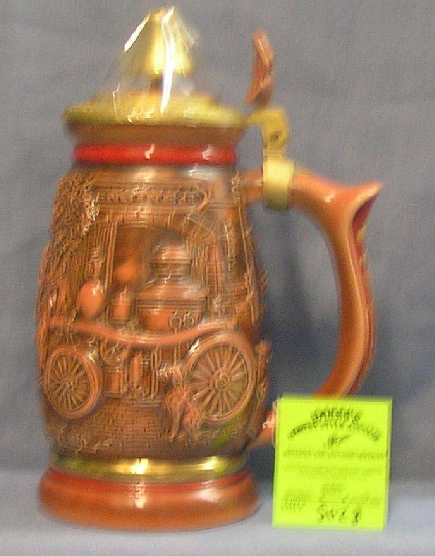Vintage style fire department themed beer stein