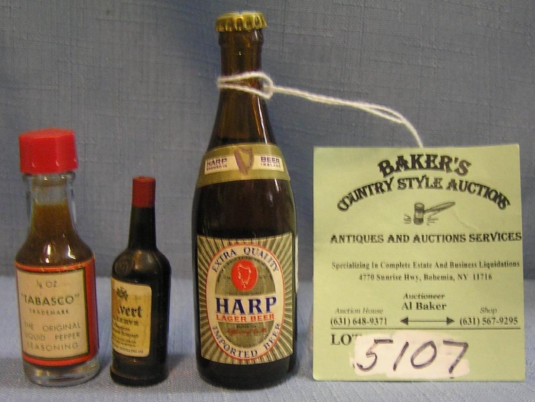Group of three vintage miniature bottles