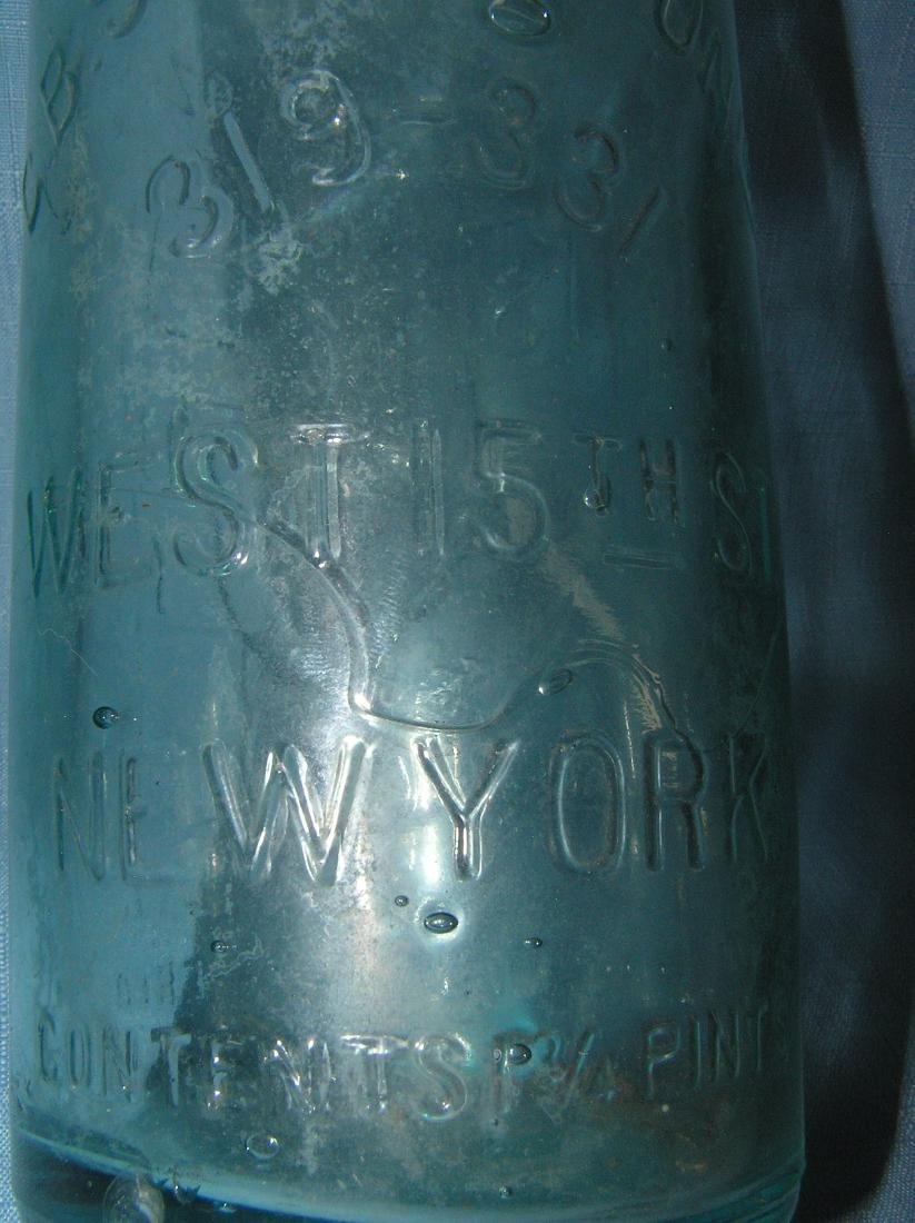 Early Figural bar tender themed beer bottle - 6