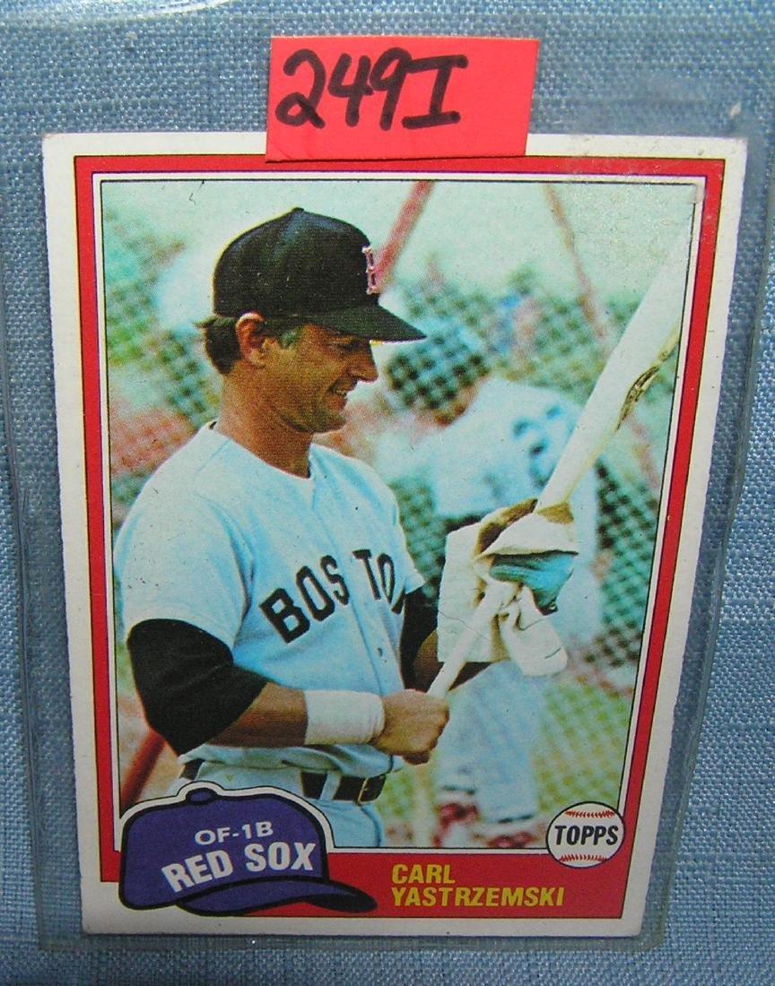 Carl Yastrzemski all star baseball card