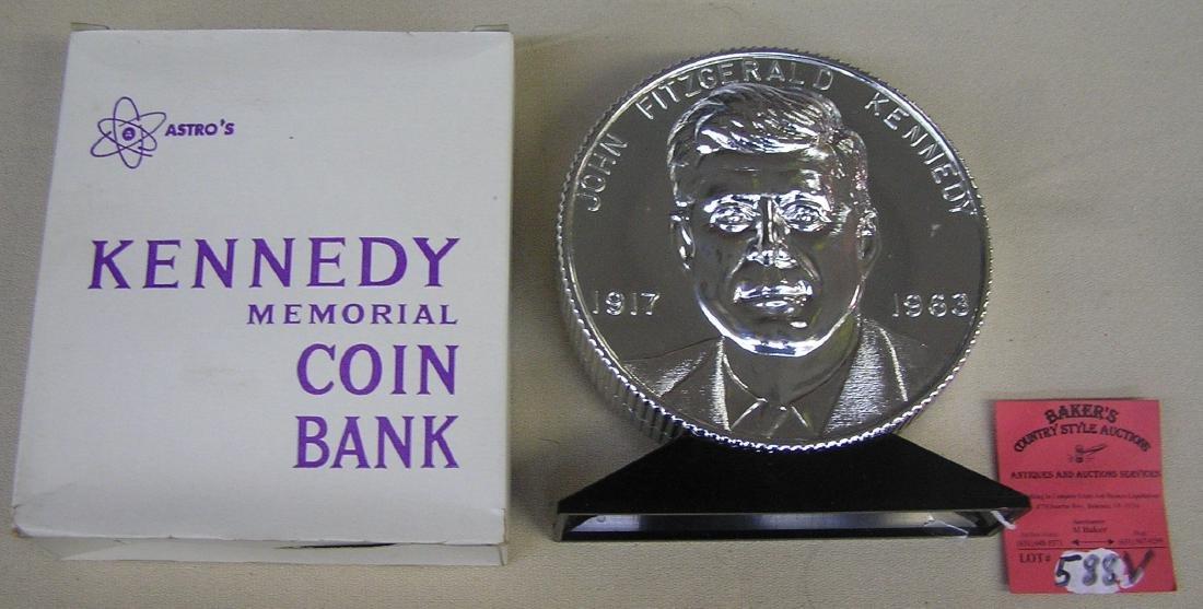 John F Kennedy Bicentennial coin bank