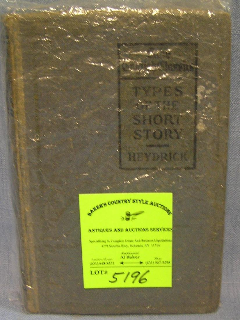 Antique book Types Of Short Stories by Heydrick