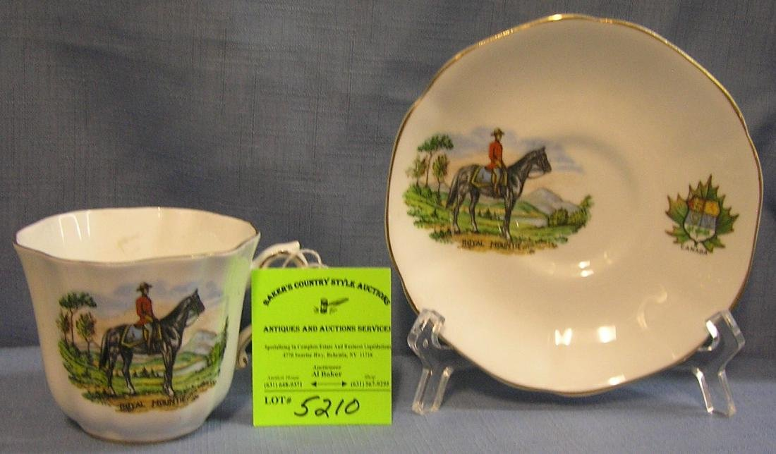 Canadian mounted police cup and saucer set