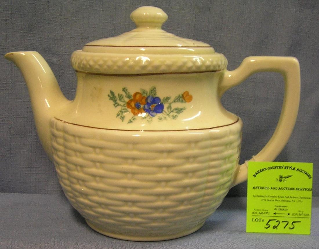 Vintage floral decorated porcelain teapot