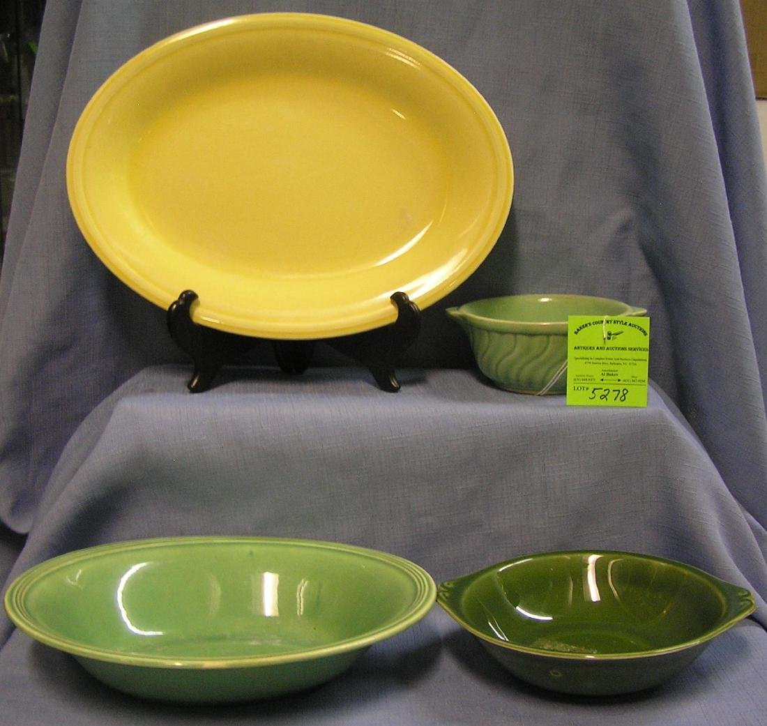 Group of four vintage art pottery bowls