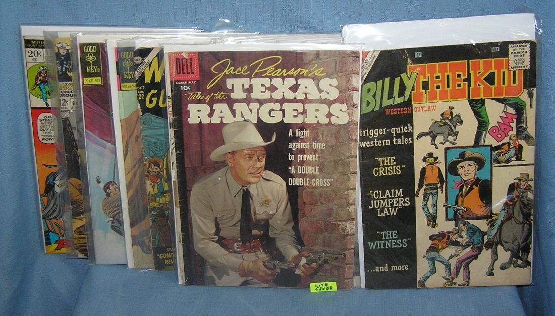Group of early western themed comic books