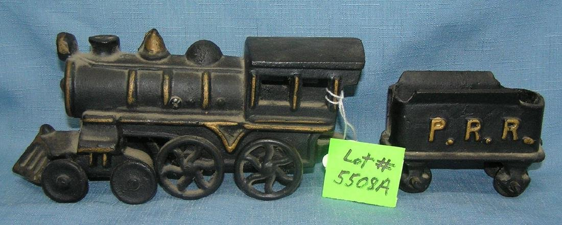All hand painted cast iron Penns RR train set