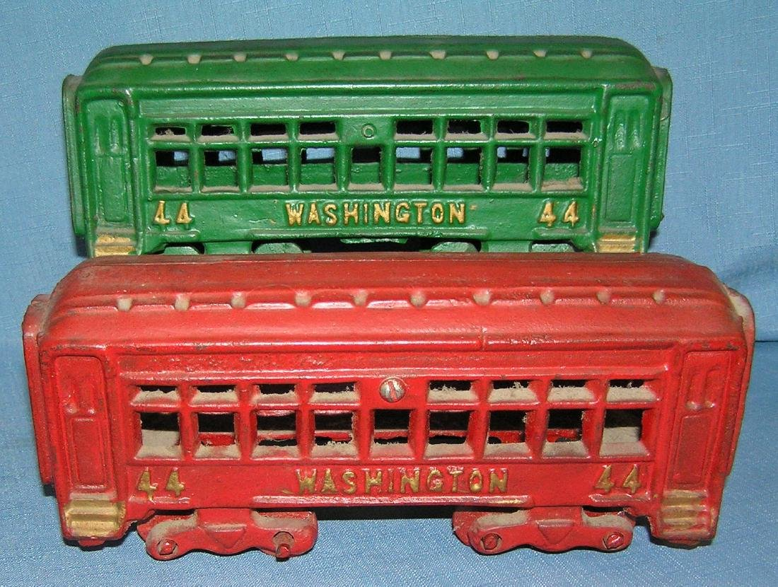 All hand painted cast iron Penns RR train set - 2