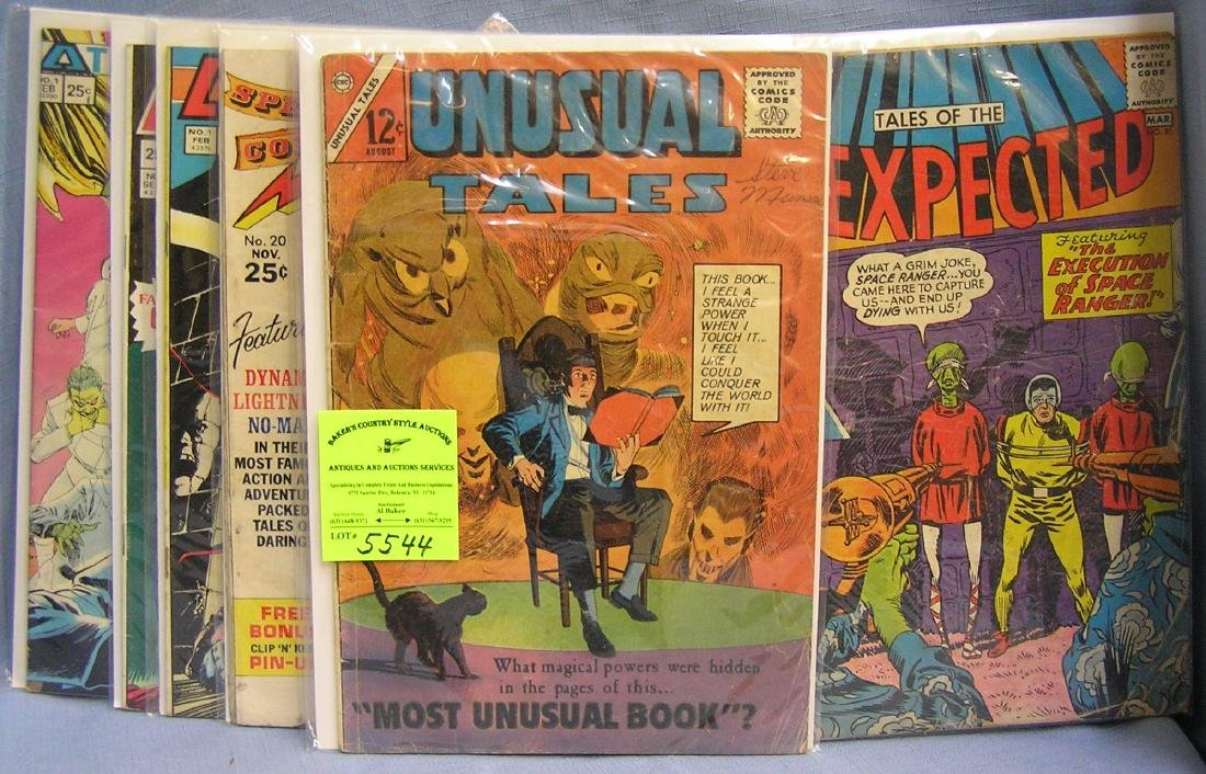 Group of vintage Ghost and horror comic books