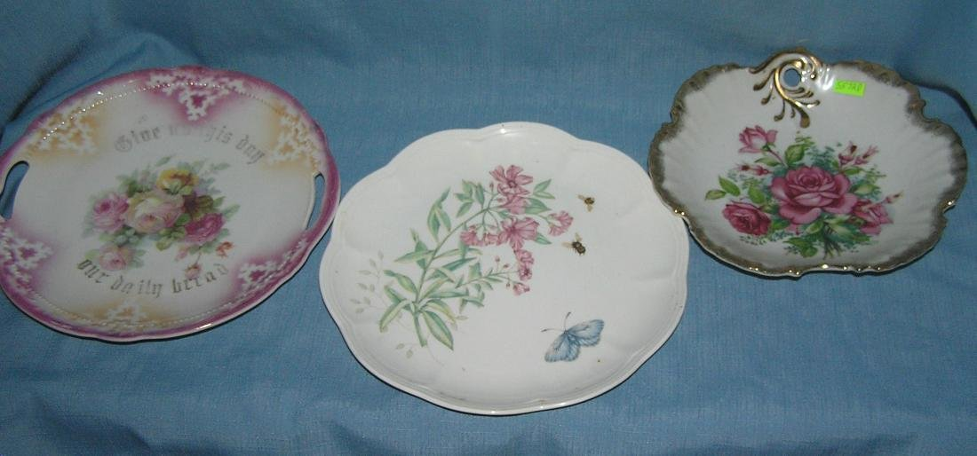 Vintage floral decorated bowls and dishes