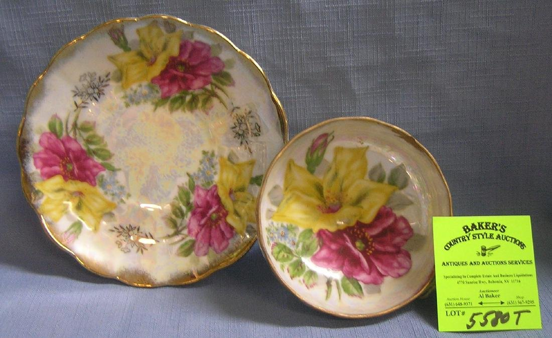 Antique hand painted European cup and saucer set