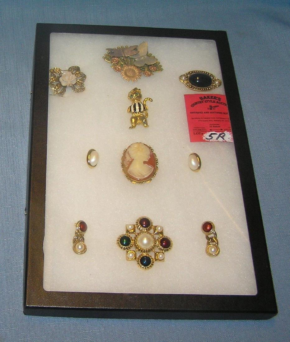 Quality costume jewelry pins and earrings