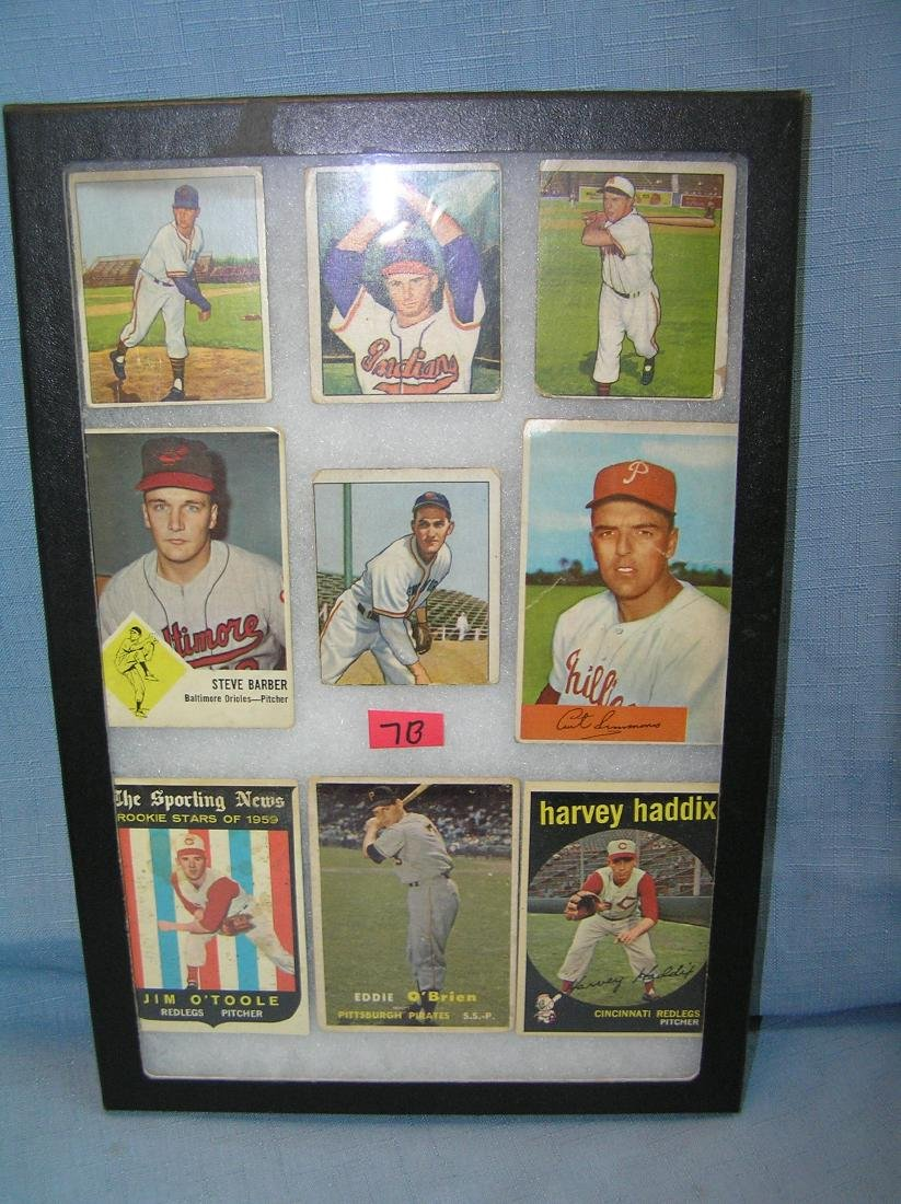 1950's Bowman, Topps and Fleer baseball cards