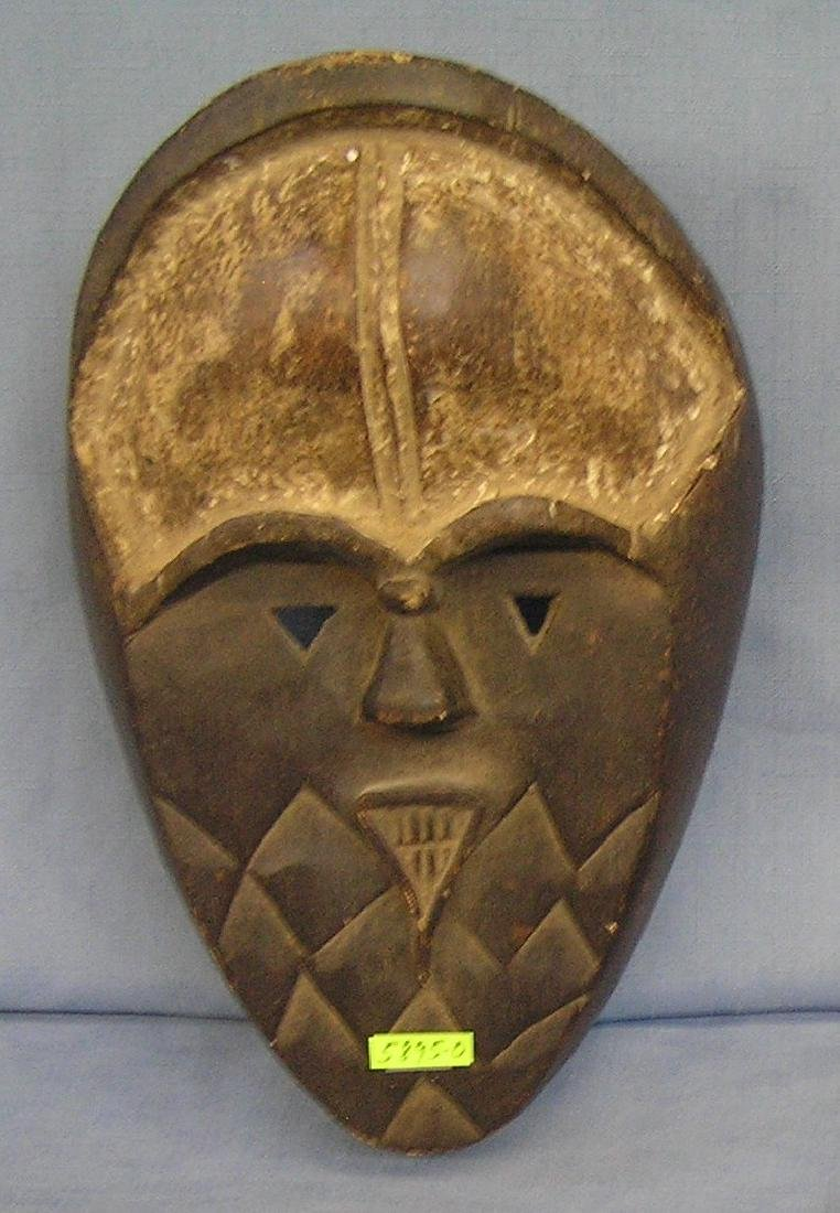 Hand carved wood African mask