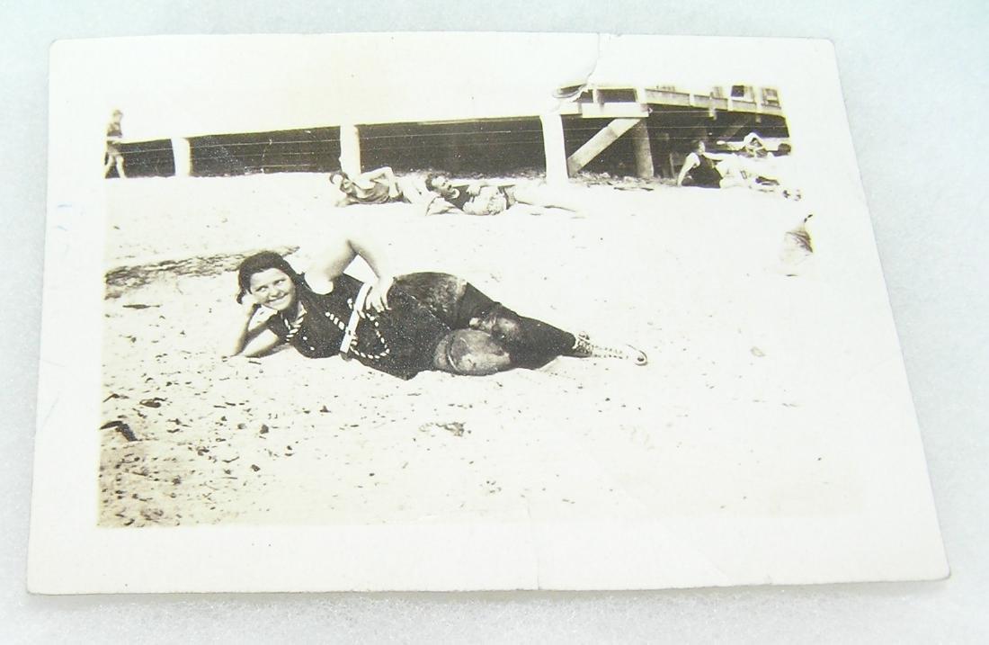 Coney Island bathers circa early 1900's photo