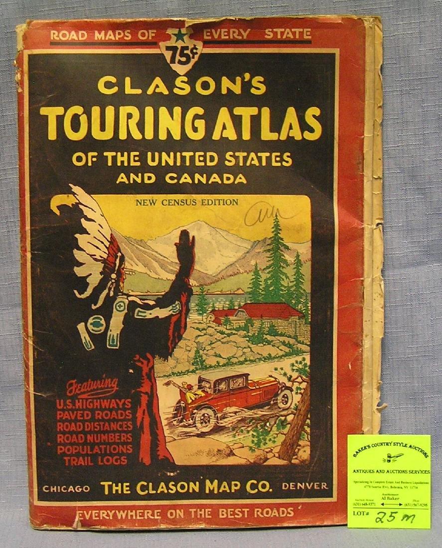 Early auto advertising touring atlas