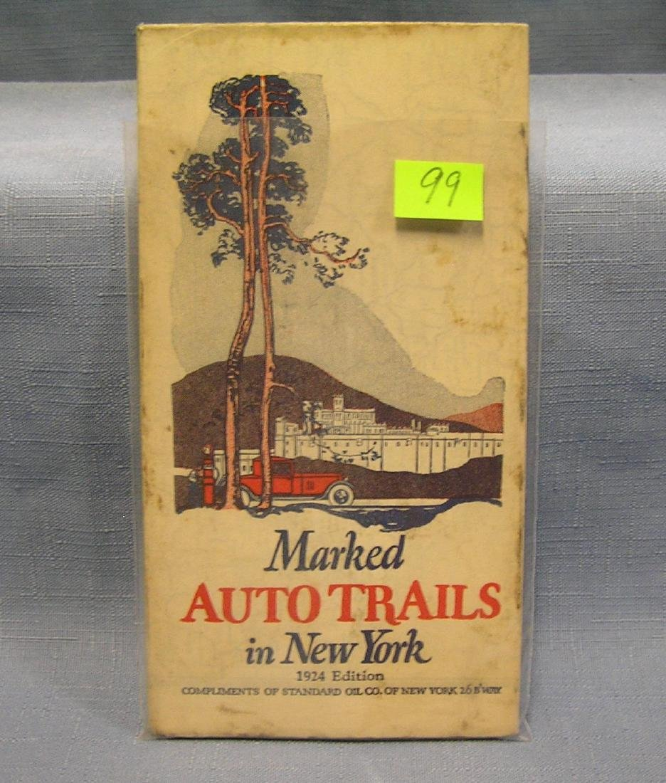 Antique Marked Auto Trails in NY road map
