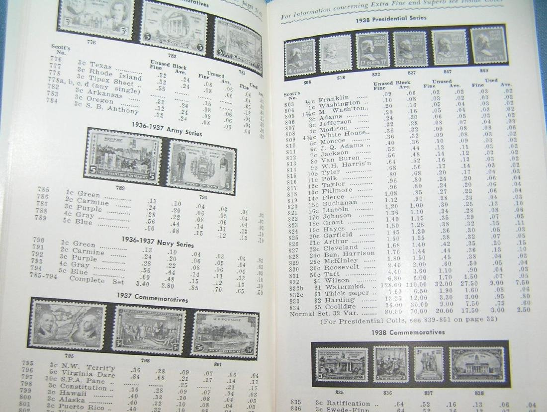 Vintage stamp collecting guide book and price list - 3