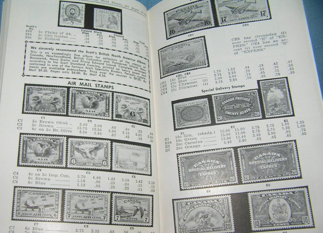 Vintage stamp collecting guide book and price list - 5