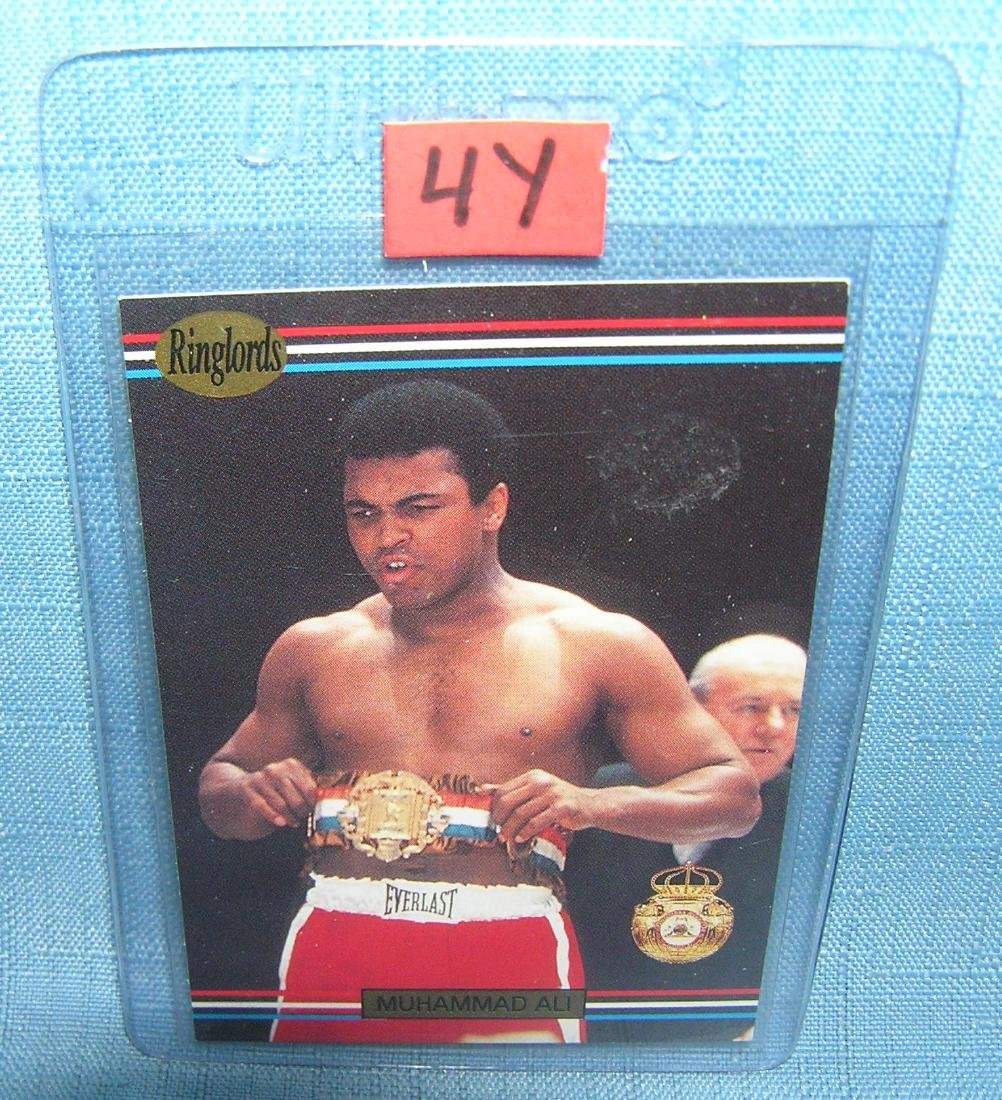 Vintage Muhammad Ali boxing world champion boxing card
