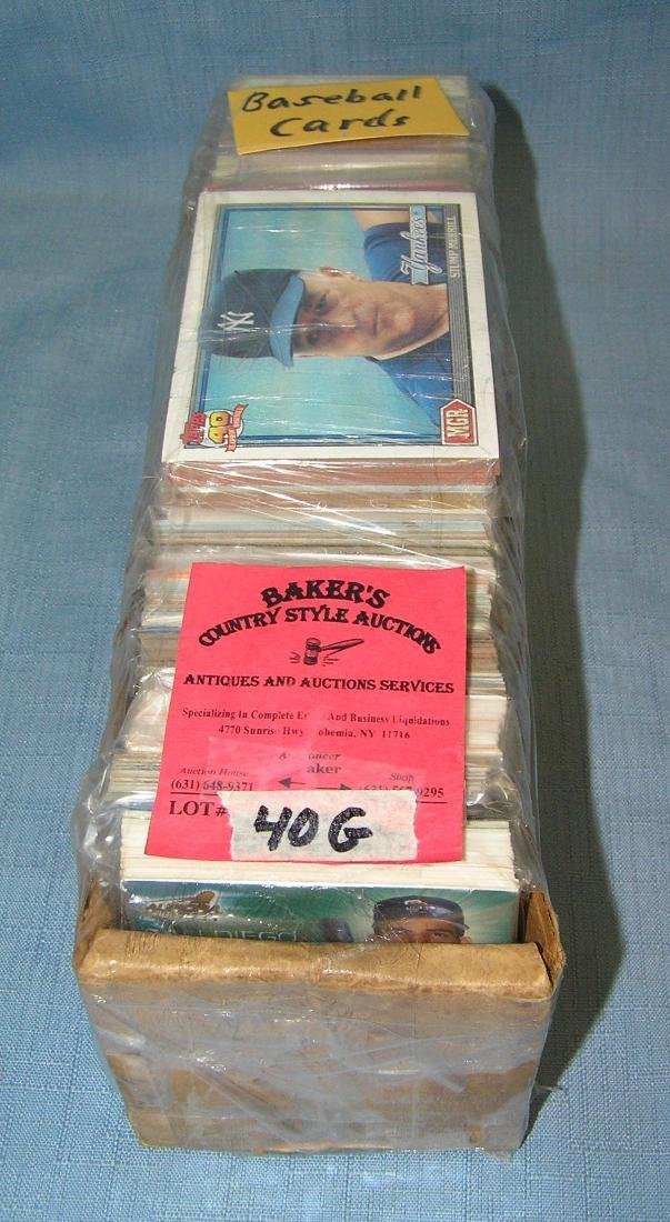 Box full of vintage baseball cards