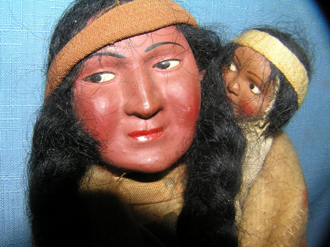 Native American Indian Skookum 11 inch squaw doll - 3