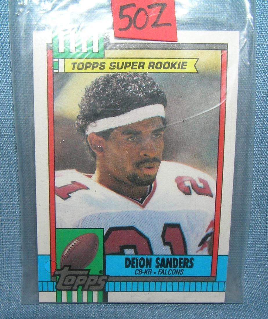 Deion Sanders football rookie card