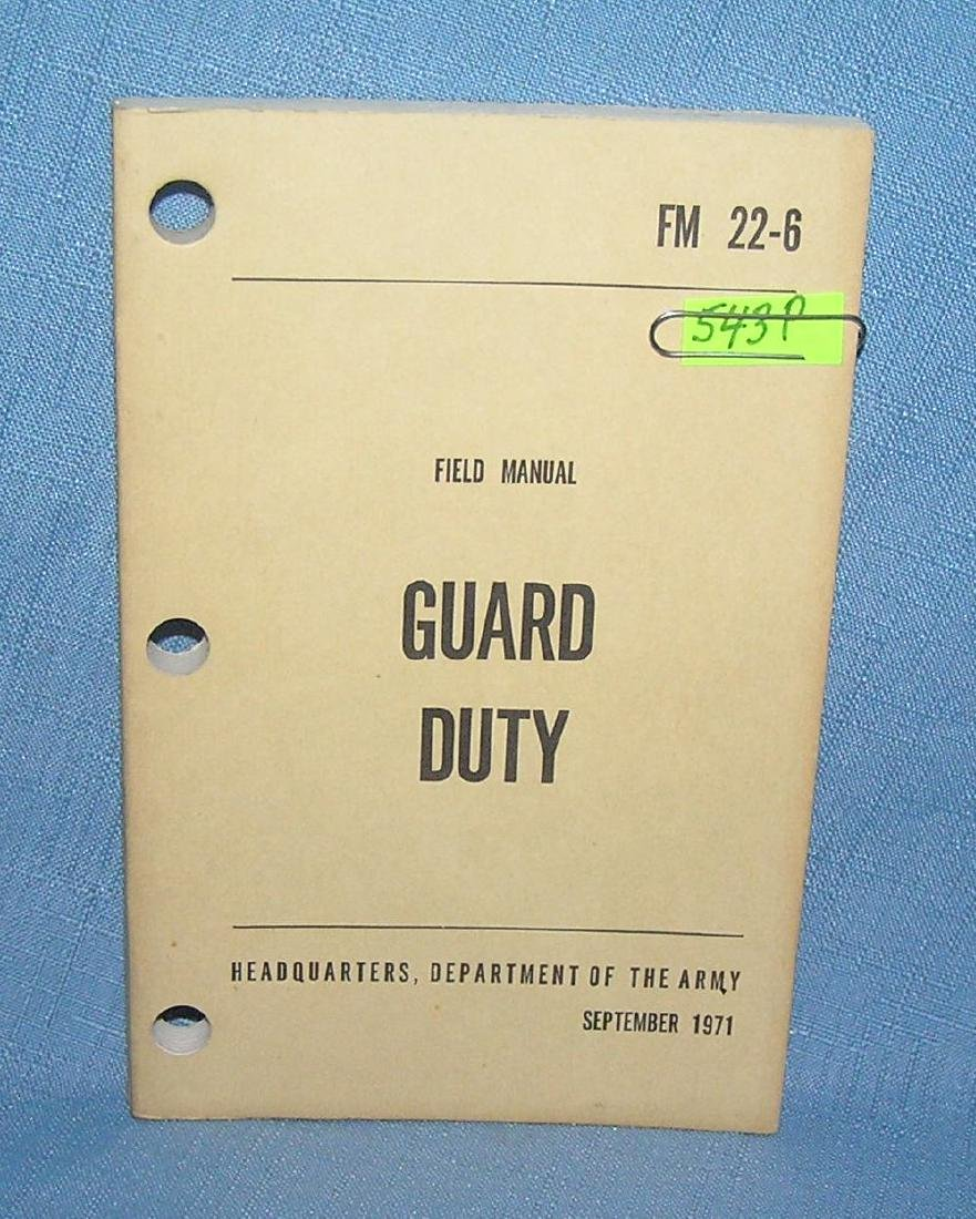 Guard Duty field manuel 1971