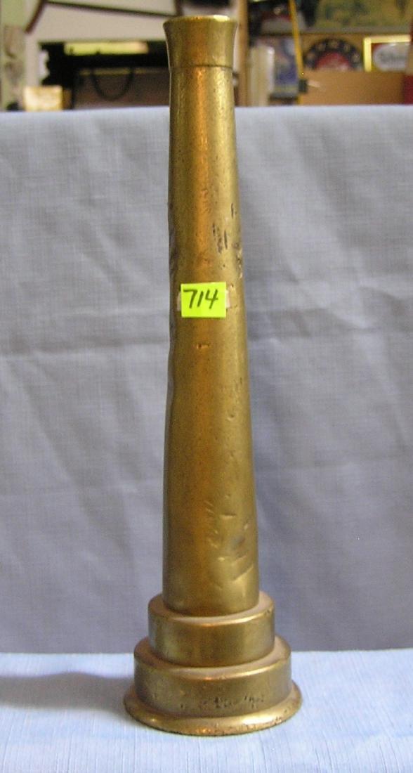 Solid brass antique fire nozzle