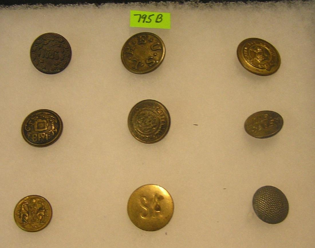 Group of antique buttons